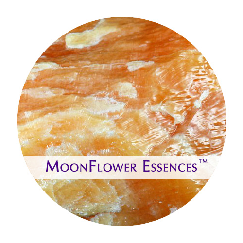 moonflower essence - orange calcite gemstone image
