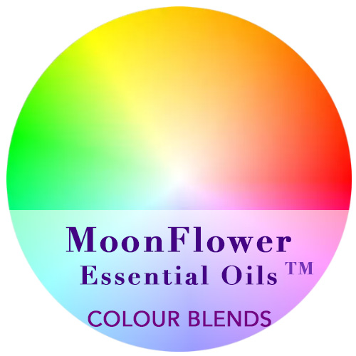 moonflower essential oils category - colour blends